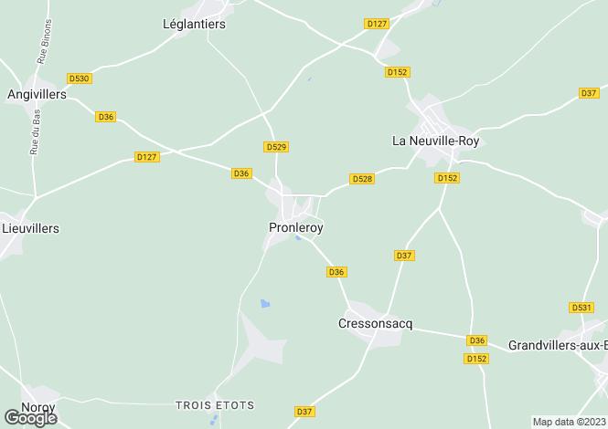Map for pronleroy, Oise, France