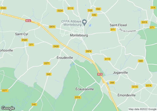 Map for MONTEBOURG, 50310, France