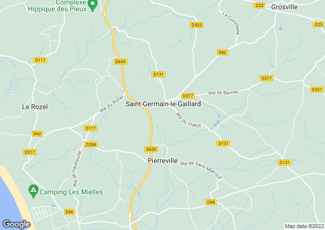 Map for Normandy, Manche, St-Germain-le-Gaillard