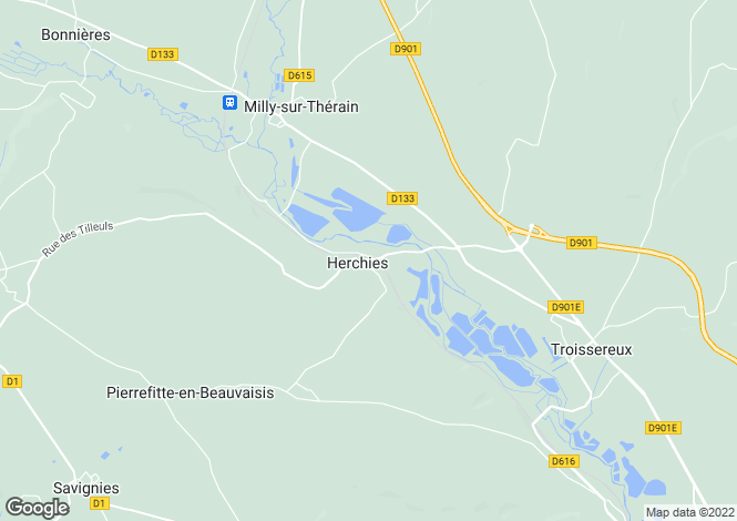 Map for herchies, Oise, France