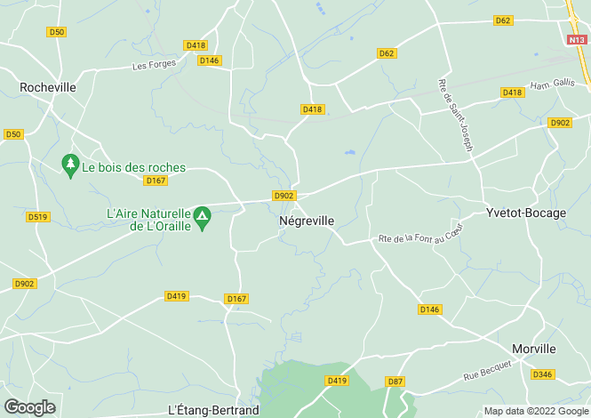 Map for negreville, Manche, France