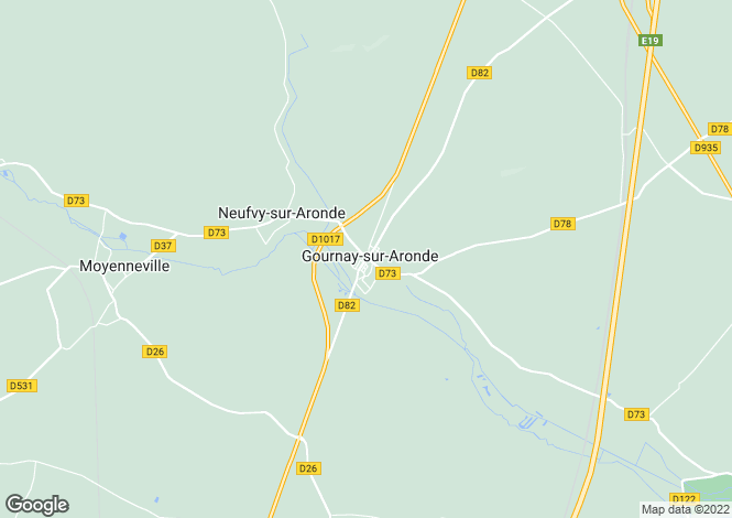 Map for gournay-sur-aronde, Oise, France