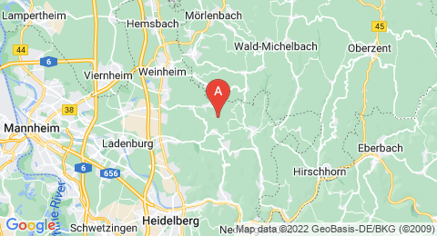 map of Eichelberg (Odenwald) (Germany)