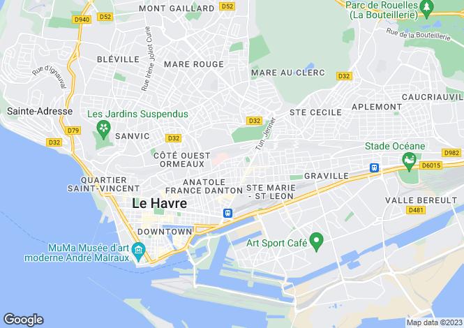 Map for LE HAVRE, Haute-Normandie