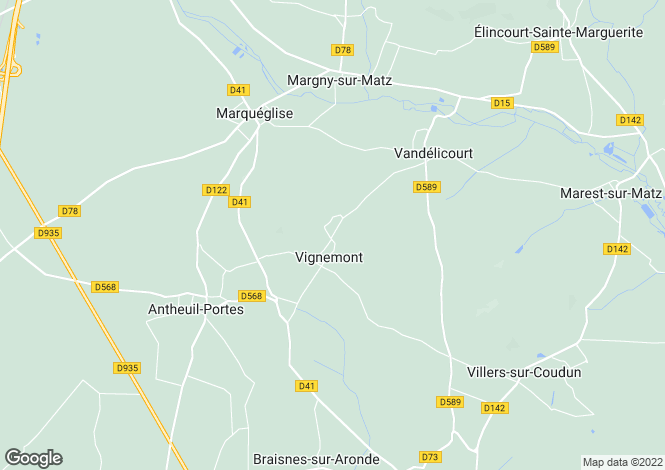 Map for vignemont, Oise, France