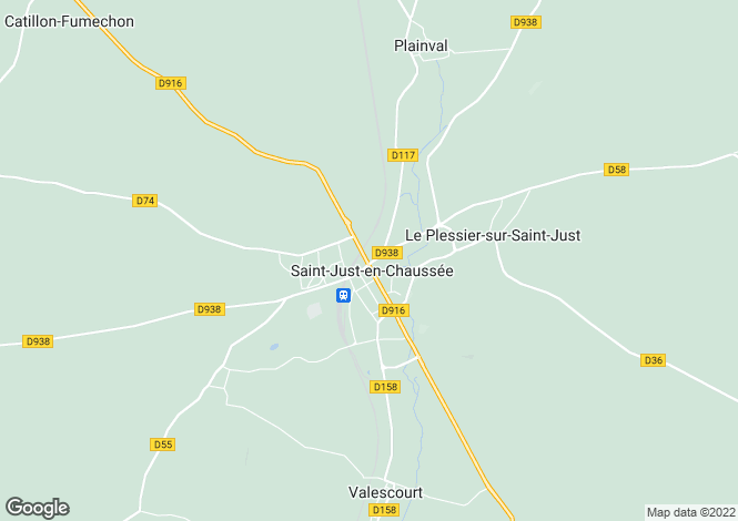 Map for Picardy, Oise, St-Just-en-Chaussée