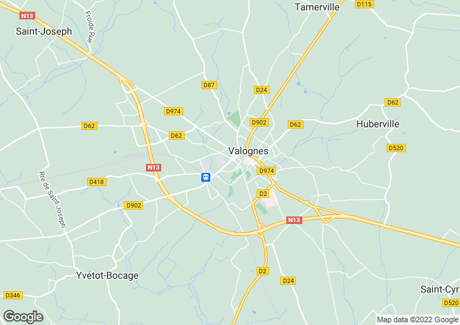 Map for Normandy, Manche, Valognes