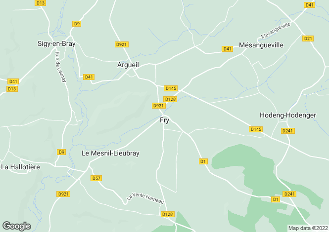 Map for fry, Eure, France
