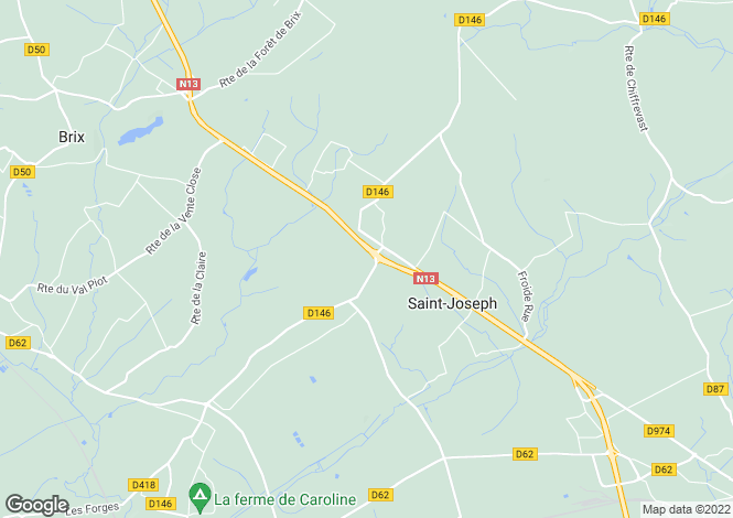 Map for , Manche, France