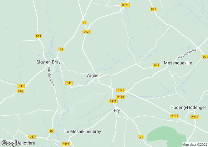 Map for argueil, Eure, France