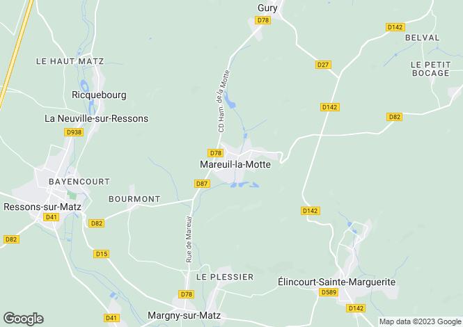 Map for mareuil-la-motte, Oise, France