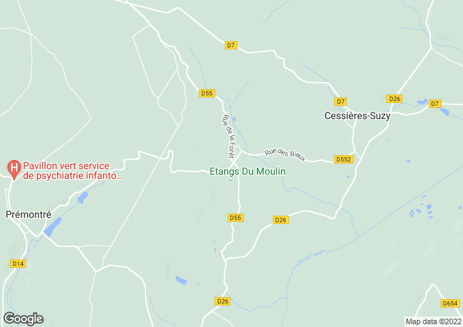 Map for suzy, Aisne, France