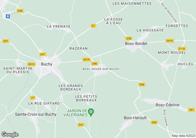 Map for Normandy, Seine-Maritime, Bosc-Roger-sur-Buchy
