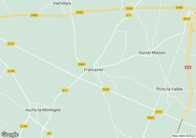 Map for francastel, Oise, France