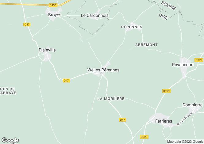 Map for welles-perennes, Oise, France