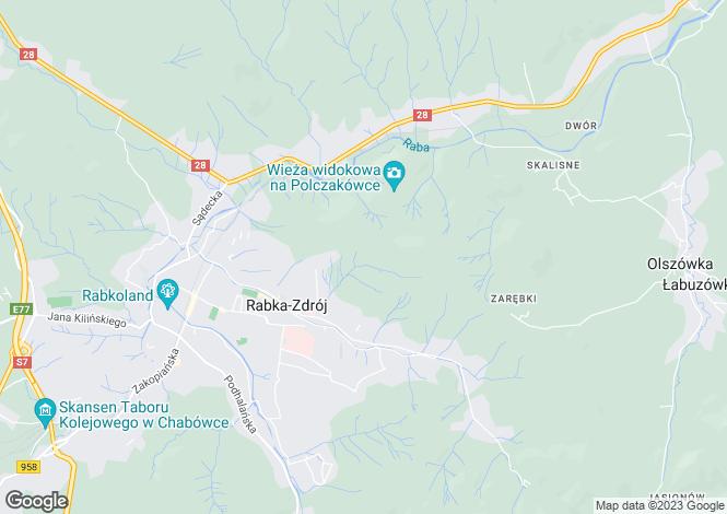 Map for Rabka, Lesser Poland