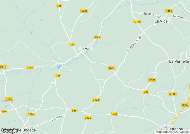 Map for Le Vast, Manche, 50630, France