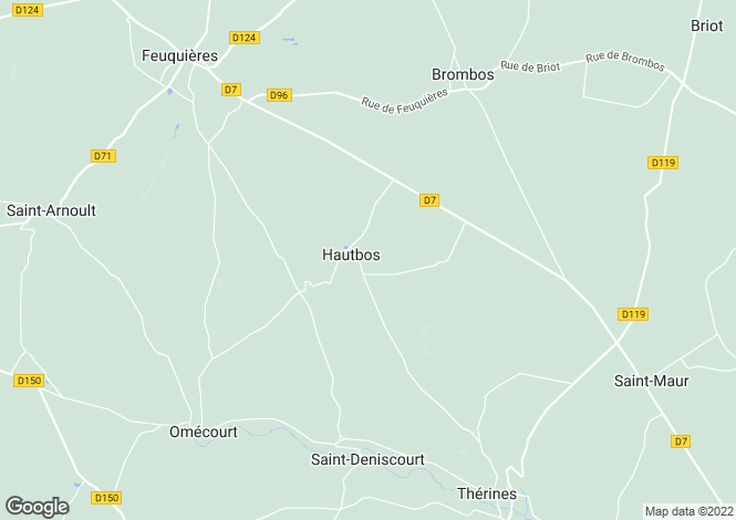 Map for hautbos, Oise, France