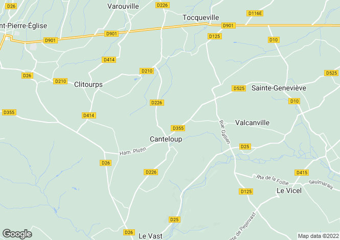 Map for Canteloup, Manche, 50330, France