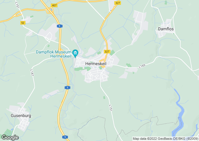 Map for Rhineland-Palatinate, Hermeskeil