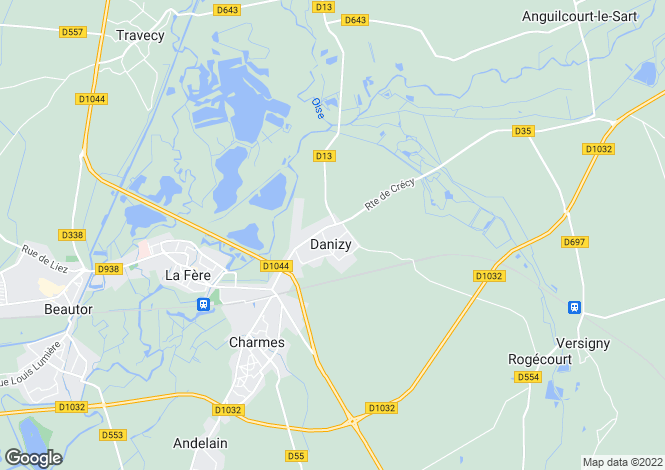 Map for danizy, Aisne, France