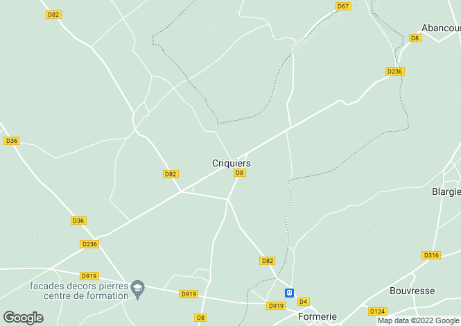 Map for criquiers, Seine-Maritime, France