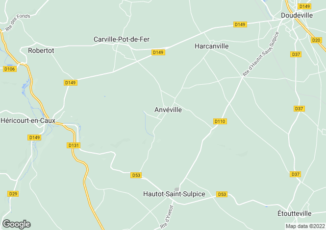 Map for anveville, Seine-Maritime, France