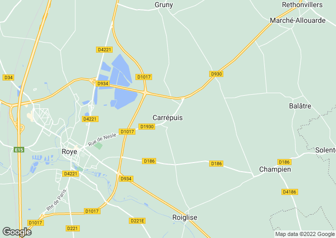 Map for Picardy, Somme, Carrépuis
