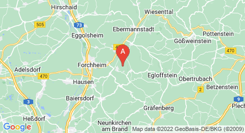 map of Ehrenbürg (Germany)