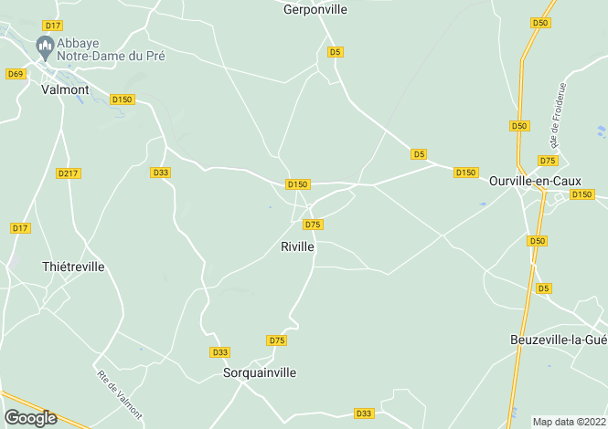 Map for riville, Seine-Maritime, France