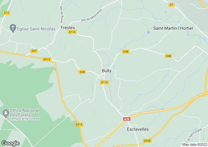 Map for bully, Seine-Maritime, France