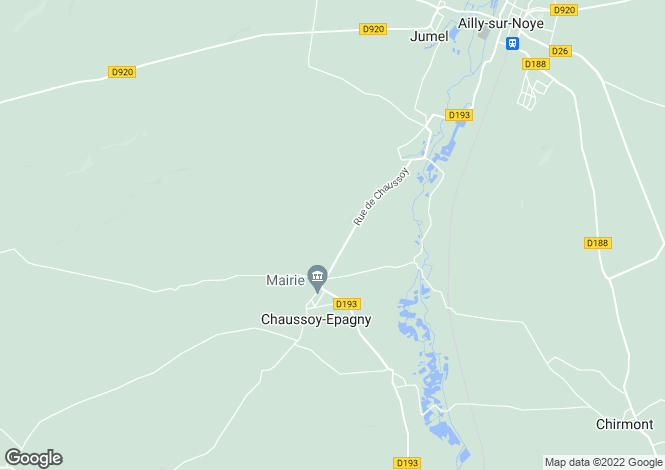 Map for chaussoy-epagny, Somme, France