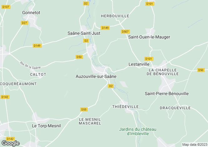 Map for auzouville-sur-saane, Seine-Maritime, France