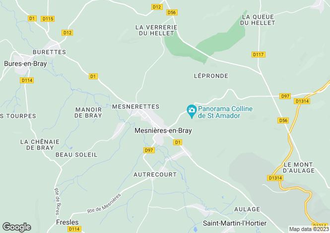 Map for mesnieres-en-bray, Seine-Maritime, France