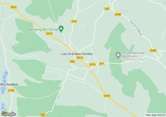 Map for les-grandes-ventes, Seine-Maritime, France