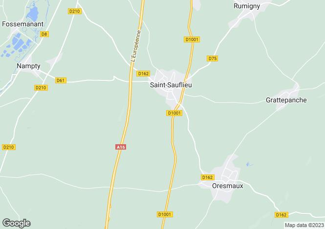 Map for st-sauflieu, Somme, France