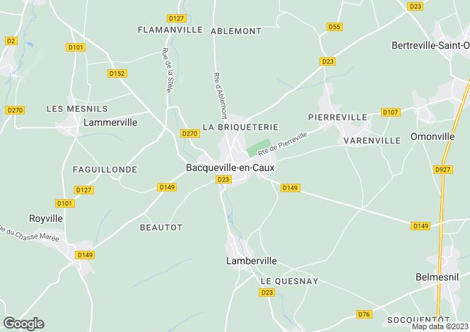 Map for Nr Bacqueville-En-Caux, Seine-Maritime