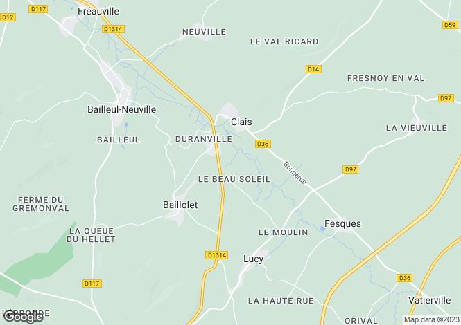 Map for clais, Seine-Maritime, France