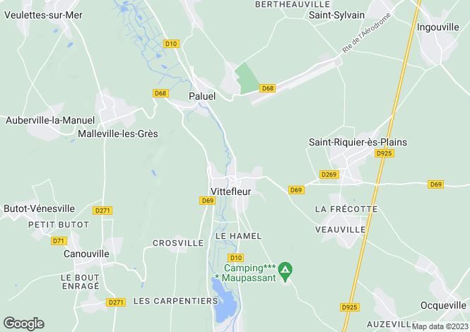 Map for vittefleur, Seine-Maritime, France