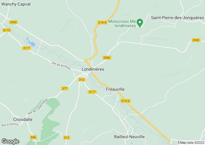 Map for Normandy, Seine-Maritime, Londinières