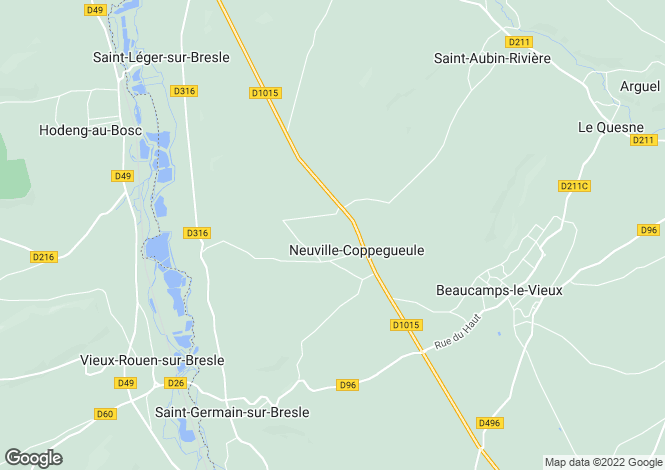Map for Picardy, Somme, Neuville-Coppegueule
