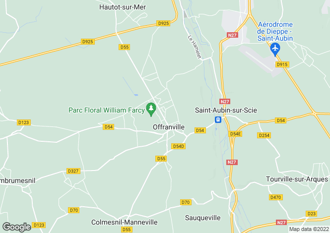Map for offranville, Seine-Maritime, France