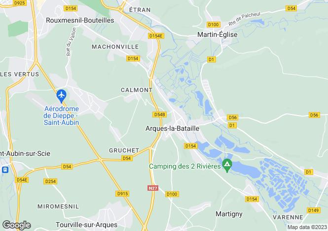 Map for arques-la-bataille, Seine-Maritime, France
