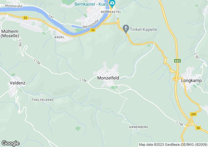 Map for Monzelfeld, Rhineland-Palatinate