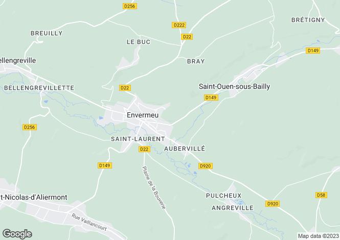 Map for Normandy, Seine-Maritime, Envermeu