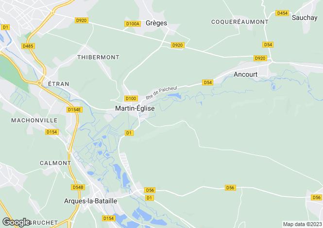 Map for martin-eglise, Seine-Maritime, France