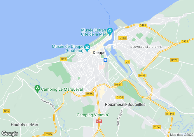 Map for dieppe, Seine-Maritime, France