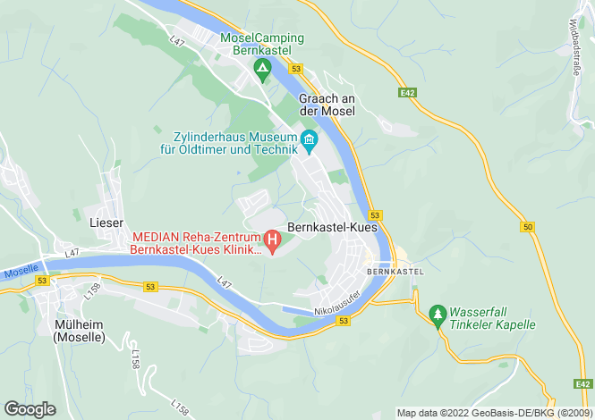 Map for Bernkastel-Kues, Rhineland-Palatinate