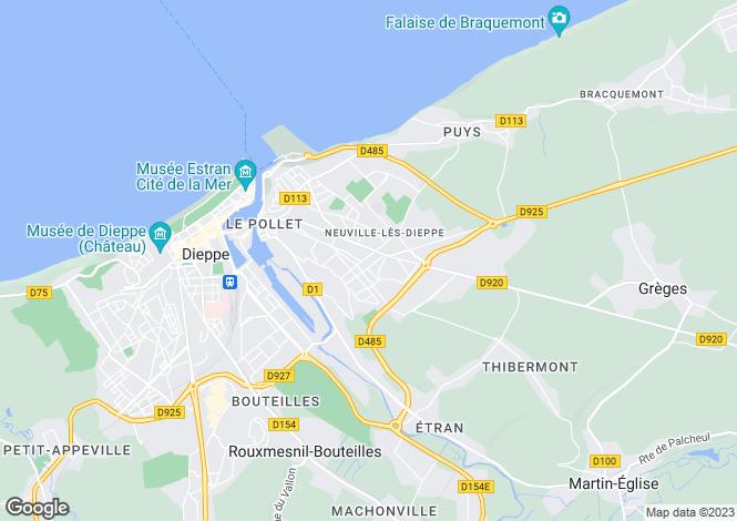 Map for neuville-les-dieppe, Seine-Maritime, France