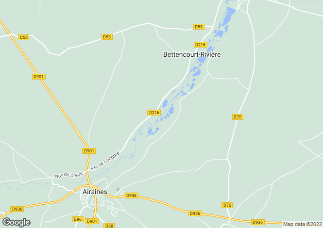 Map for bettencourt-riviere, Somme, France